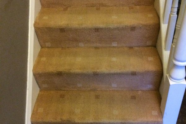 Clean stairs Morecambe after cleaning.
